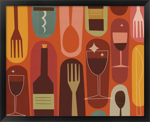 Framed Wine & Dine Print