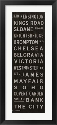 Framed London I Print