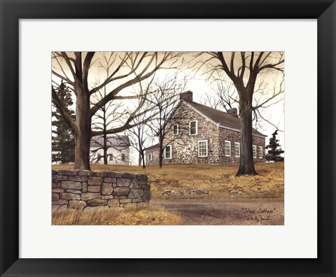 Framed Stone Cottage Print