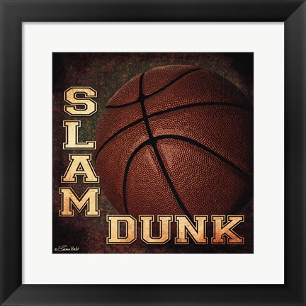 Framed Slam Dunk Print