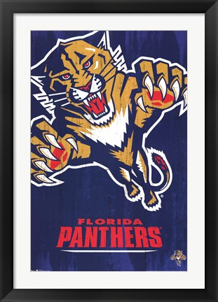 Framed Panthers - Logo 13 Print