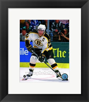 Framed Ray Bourque Action Print