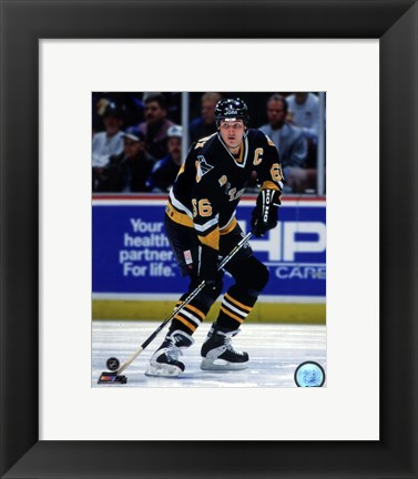 Framed Mario Lemieux 1995-96 Action Print