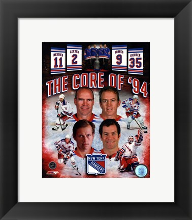 Framed New York Rangers Core Of 1994 Composite Print