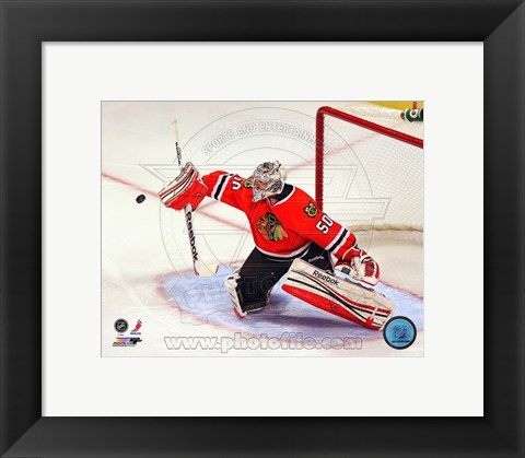 Framed Corey Crawford 2012-13 Goalie Print