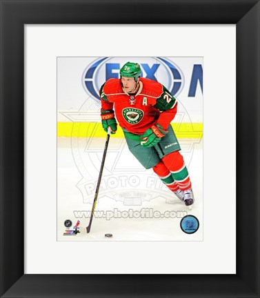 Framed Ryan Suter Passing The Hockey Puck Print
