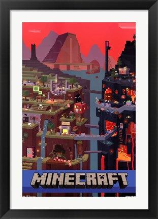Framed Minecraft - Cube Print