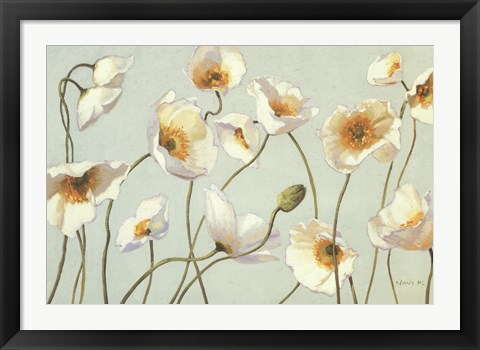 Framed White And Bright Poppies Print