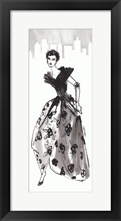 Framed Fifties Fashion II with Red Print