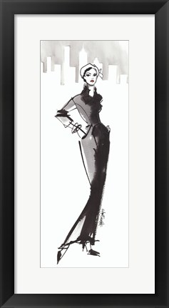 Framed Fifties Fashion III with Red Print