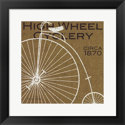 Framed High Wheel Cyclery Print