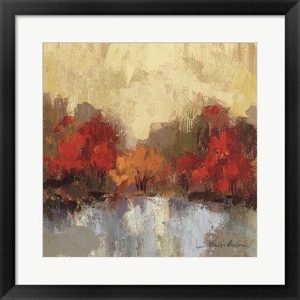Framed Fall Riverside I Print