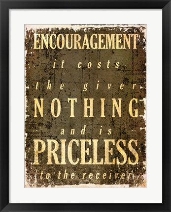 Framed Encouragement Quote Print