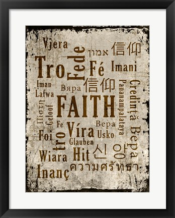 Framed Faith in Multiple Languages Print