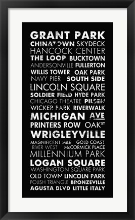 Framed Chicago Cities II Print