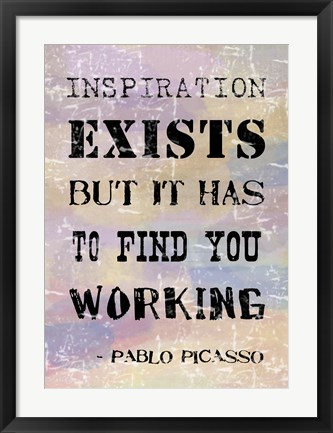 Framed Picasso Inspiration Quote Print