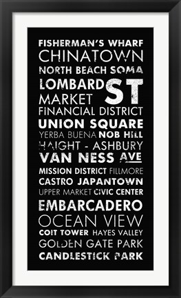 Framed San Francisco II Print