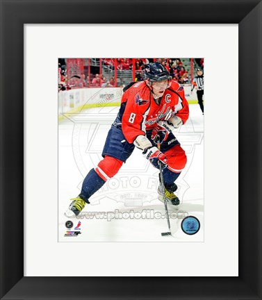 Framed Alex Ovechkin 2012-13 Action Print
