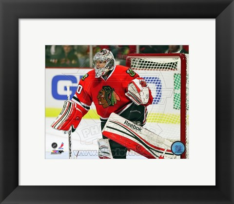 Framed Corey Crawford 2012-13 Print
