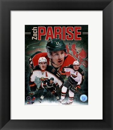 Framed Zach Parise 2013 Portrait Plus Print