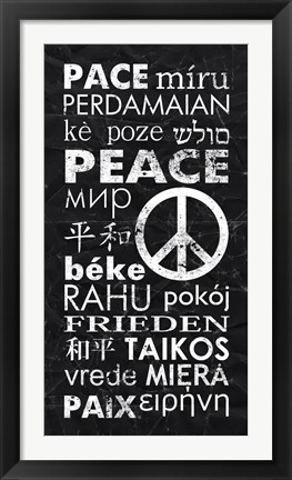 Framed Peace Languages Print