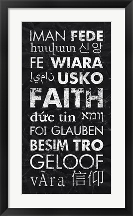Framed Faith in Different Languages Print