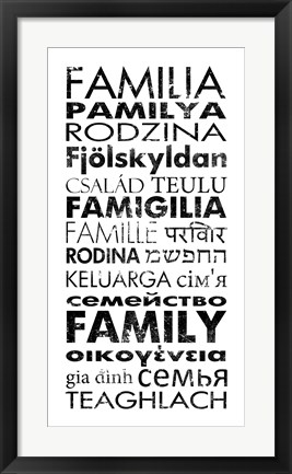 Framed Family Languages Print