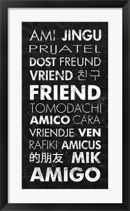 Framed Friend in Different Languages Print
