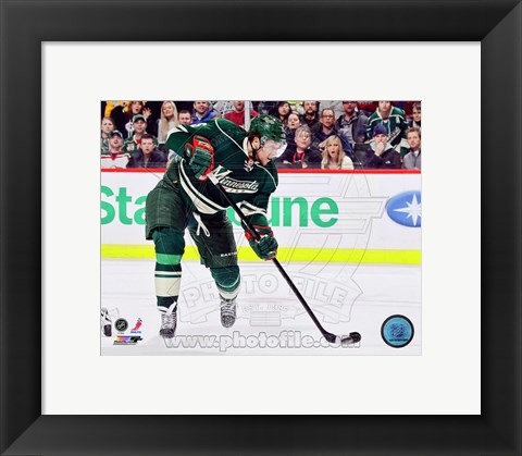 Framed Dany Heatley 2012-13 Action Print