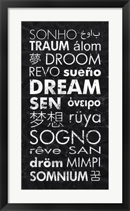 Framed Dream in Different Languages Print