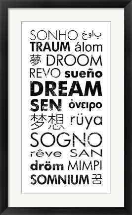 Framed Dream Languages Print