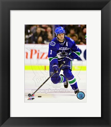 Framed Kevin Bieksa on ice 2012-13 Print