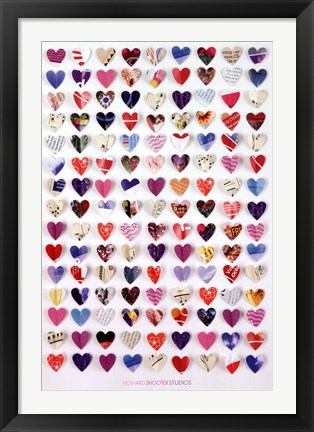 Framed Howard Shooter - Paper Hearts Print