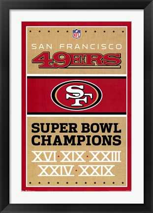 Framed San Francisco 49ers - Champions 13 Print