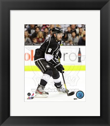 Framed Drew Doughty with the Puck 2012-13 Print
