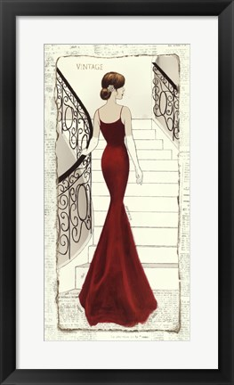 Framed La Belle Rouge Print