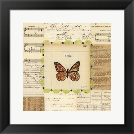 Framed Hope Butterfly Print