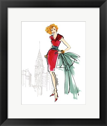 Framed Colorful Fashion III - New York Print