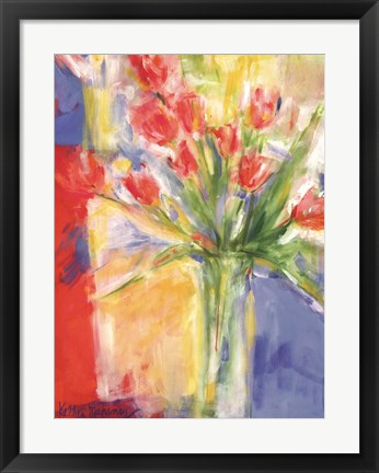Framed Tulips At 480 Print