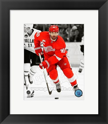 Framed Henrik Zetterberg 2012-13 Spotlight Action Print