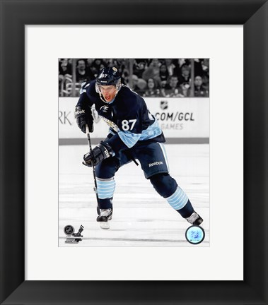 Framed Sidney Crosby 2012-13 Spotlight Action Print