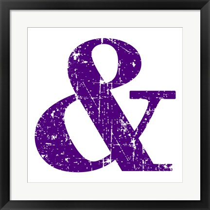 Framed Purple Ampersand Print