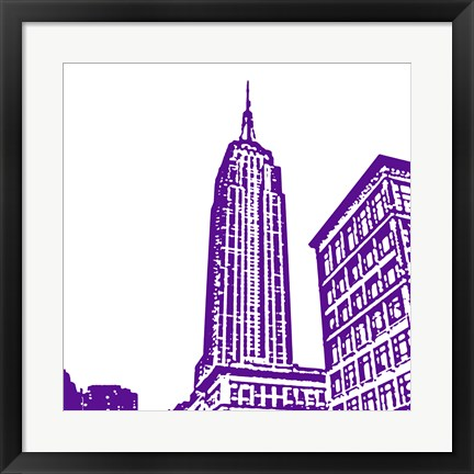 Framed Purple Empire Print