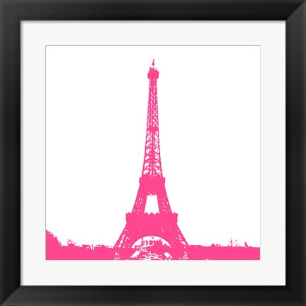 Framed Pink Eiffel Tower Print