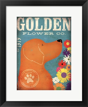 Framed Golden Flower Co. Print