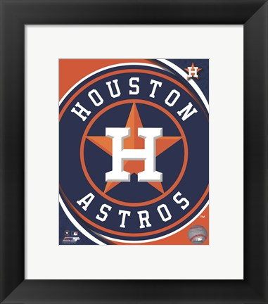 Framed 2012 Houston Astros Team Logo Print