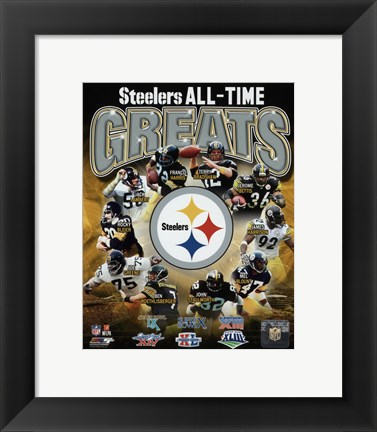 Framed Pittsburgh Steelers All Time Greats Composite Print