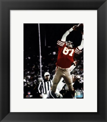 Framed Dwight Clark The Catch 1981 NFC Championship Game Print