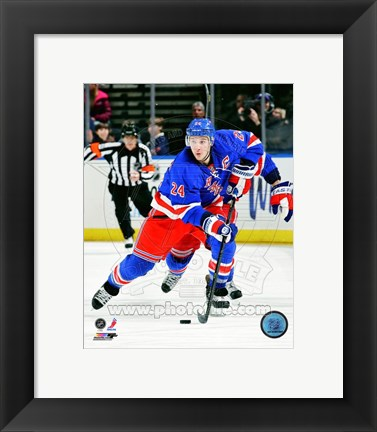 Framed Ryan Callahan 2012-13 Action Print