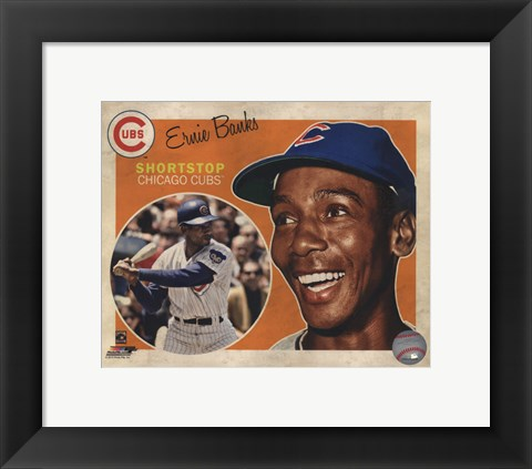 Framed Ernie Banks 2013 Studio Plus Print